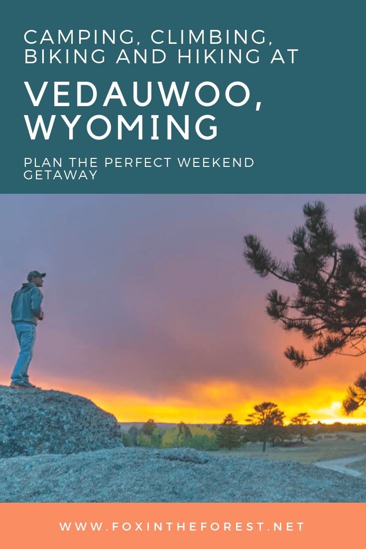 Looking for the perfect outdoor getaway without the fuss? Check out Vedauwoo, Wyoming. Located just two and a half hours from Denver, this quiet recreation area offers plenty of pristine hiking, heart-pumping mountain biking and world-class climbing. Check out what to do, where to camp (for free!) and how to make the most of this little slice of outdoor paradise. #campingneardenver #wyoming #climbinginwyoming #mtb #mtbneardenver #hikingneardenver #dispersedcampingneardenver