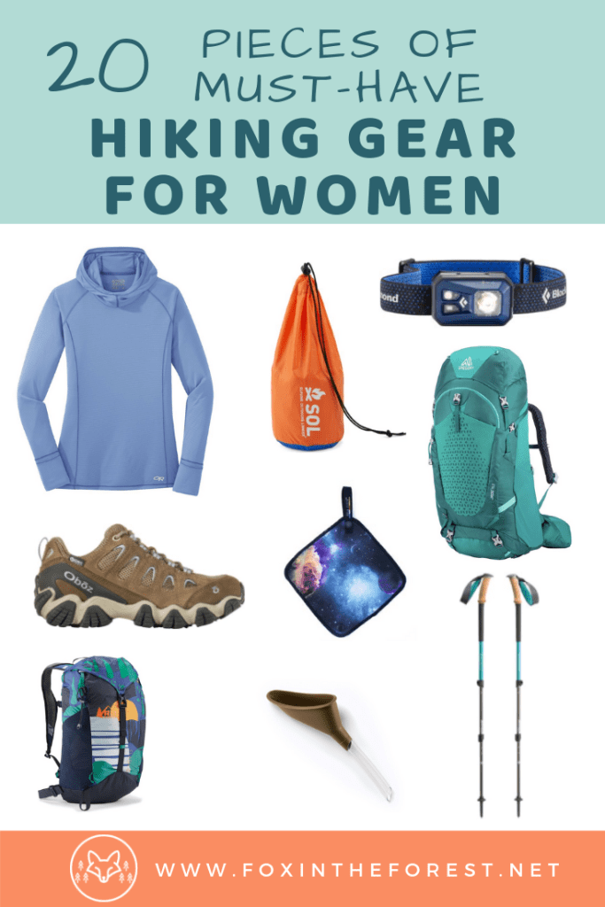 Best women's hiking gear. A list of must-have hiking gear for women. Essential hiking gadgets, clothes, and day hiking gear for beginners and experts. #hiking #trekking #outdoors #adventuretravel