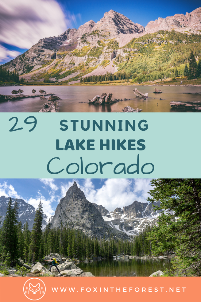 The best Colorado hikes. Colorado hiking trails with alpine lakes for dogs and with kids. Amazing Colorado hiking trails for summer and winter. Best things to do in Colorado near Denver. Beautiful hikes near Estes Park. Amazing photography hikes in Colorado with lakes. #hiking #colorado #travel