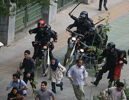 Irans Motorcycle Hooligan Cops - AP Photo