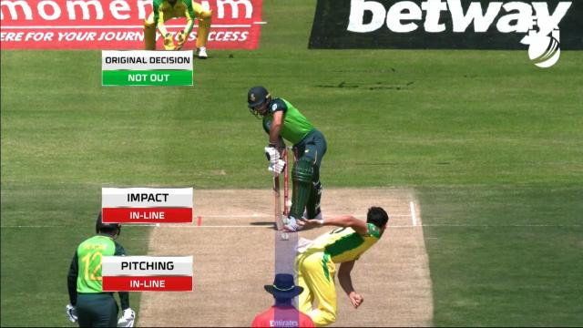 Starc hits with the first ball