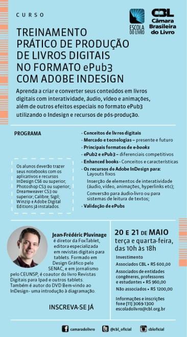 Curso de ePUB 3 na Câmara Brasileira do Livro (CBL)