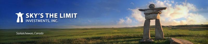 Sky's the Limit Investments Logo and Saskatchewan landscape photo
