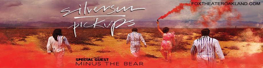 Silversun Pickups Amp Minus The Bear Tickets 22nd October