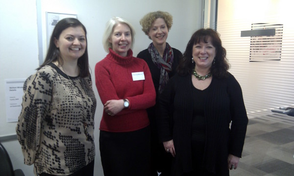 L-R:Vanessa Boon, Maureen Murray, Veronica Benson (UKRC), Fiona McPhail.