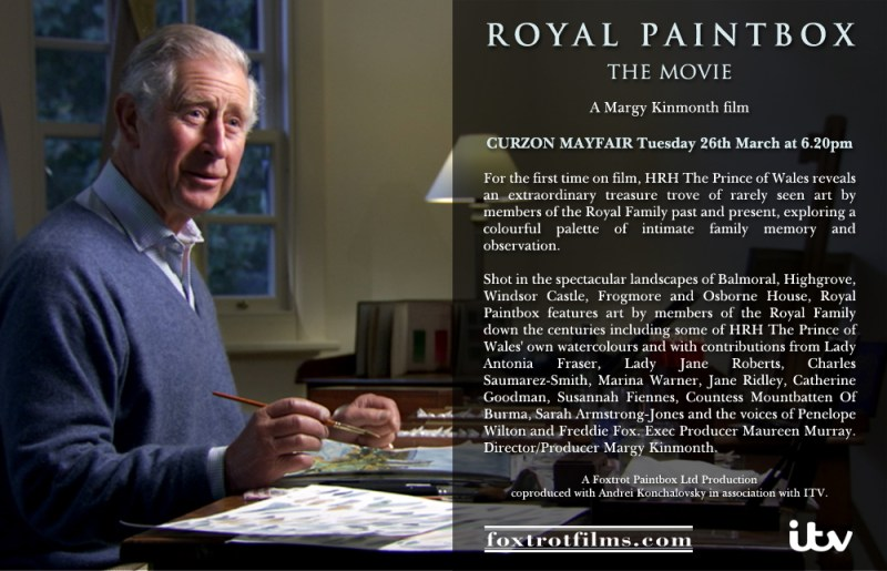 ROYAL PAINTBOX screening at CURZON MAYFAIR - Tuesday 26 March at 6.20pm
