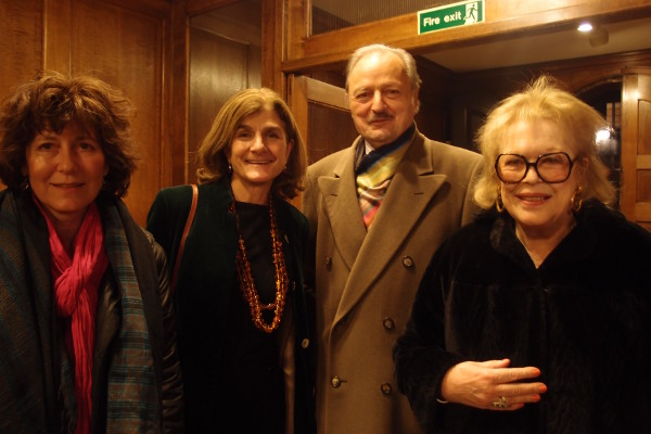 "Victoria Gray, Margy Kinmonth, Peter Bowles, Lady Antonia Fraser at the screening of Simon Gray's ""Smoking Diaries"" at Westminster School."