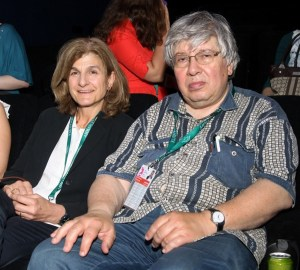 Margy Kinmonth with MIFF director Kirill Razlogov