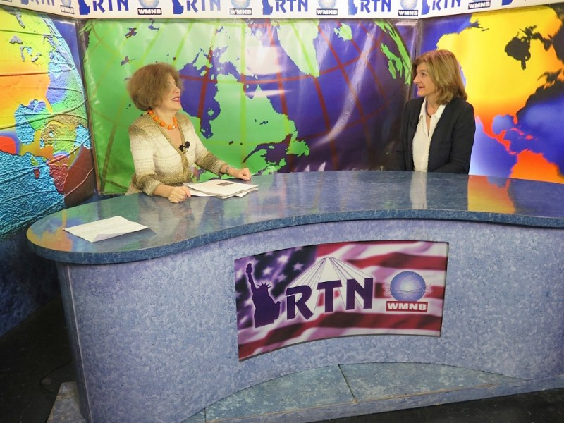 Maya Pritsker interviews director Margy Kinmonth on live TV