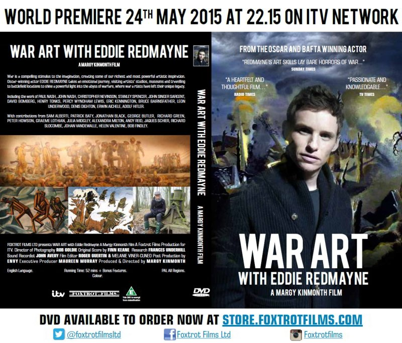 WAR ART with Eddie Redmayne 24th May at 22.15 ITV Network