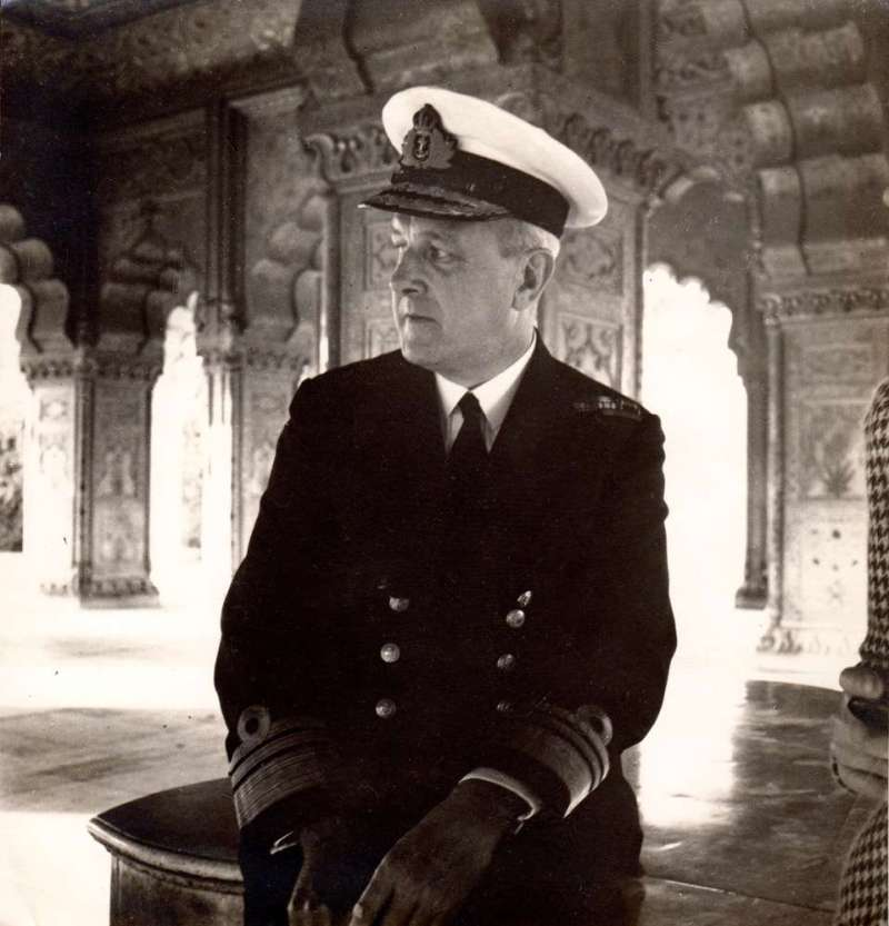 Admiral John Godfrey (photo taken in Red Fort Delhi by Cecil Beaton)