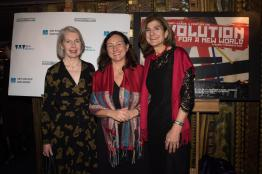 Revolution premiere - Maureen Murray Natalia Murray Margy Kinmonth