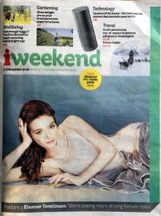 iWeekend iNews – Eleanor Tomlinson Cover
