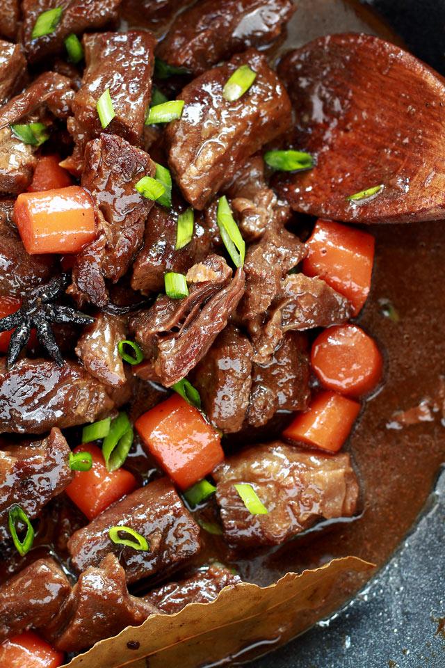 Braised Beef Filipino Chinese Style Foxy Folksy