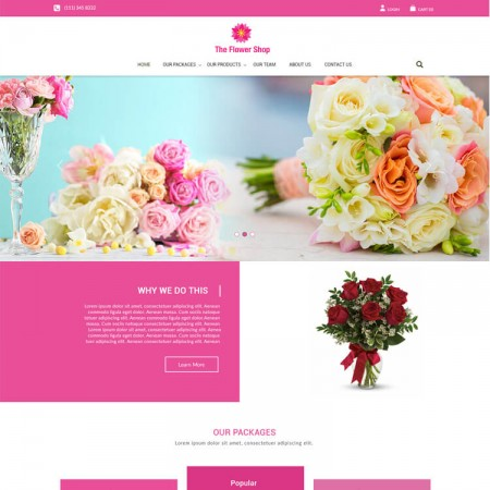 10 best flower shop website templates you will fall in love with · 1. Top Responsive Website Template Design Layout Foxytemplate