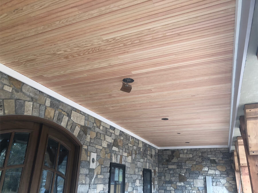 Fir Beaded Ceiling