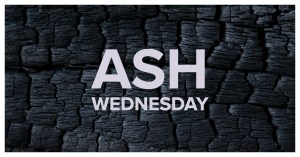 Ash Wednesday Text over burnt wood