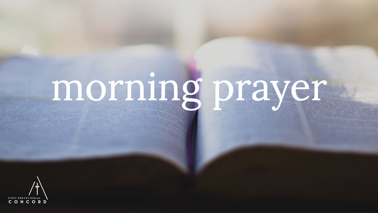 "an open Bible with the text ""morning prayer"""