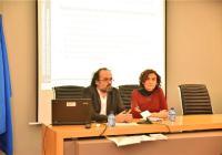 Roberto Santolaria y Olga Alastruey, Directora Provincial de Educación