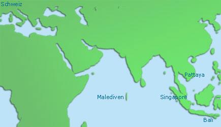 Karte Asien