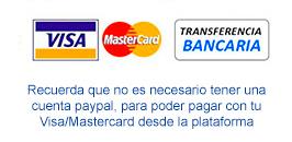 opciones de pago visa y transferencia