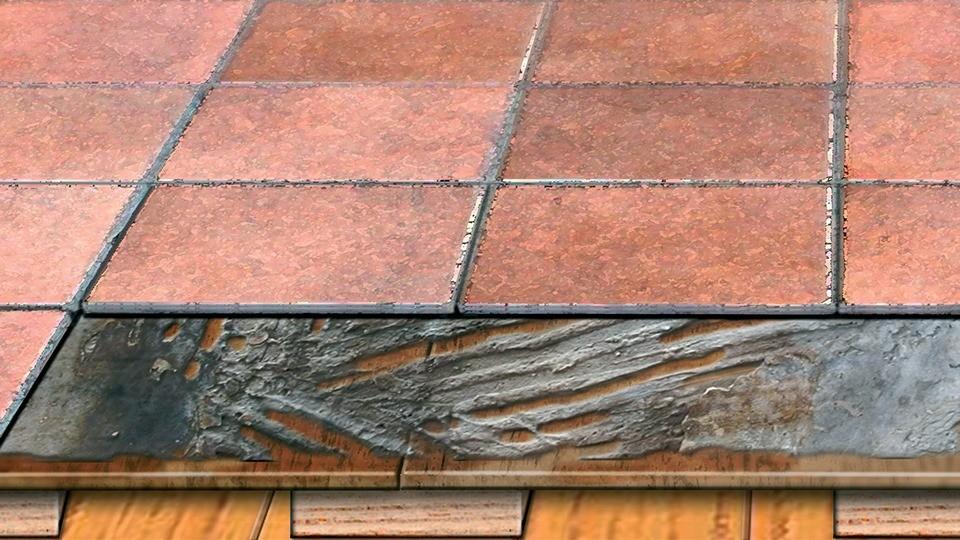 carrelage sur plancher en bois osb
