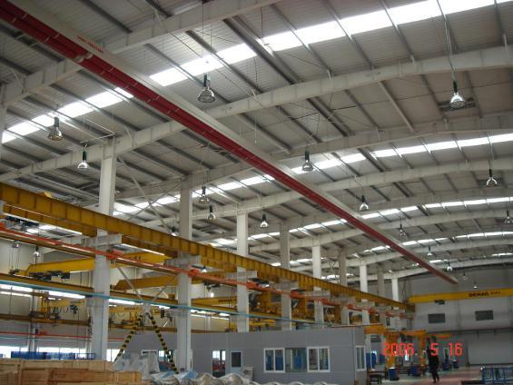 Capannone Zollern Machinery in Cina riscaldato con impianto a nastri radianti girad Fraccaro