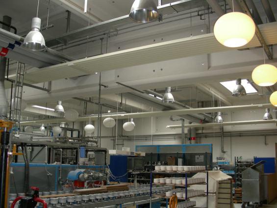 Riscaldamento industriale dello stabilimento per la lavorazione di porcellane Royal Copenhagen