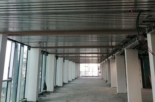 installazione soffitto radiante in cartongesso