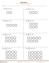 Shading shapes of fractions
