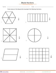 Fractions worksheets, understanding fractions, adding