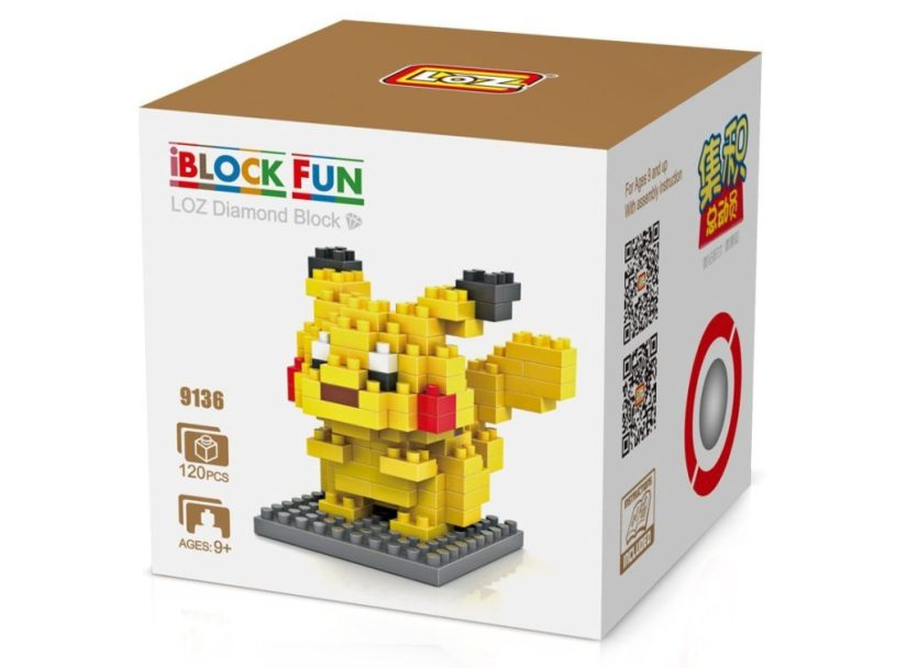 LOZ Diamond Blocks Nanoblock Pokémon Pikachu Educational Toy