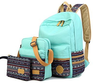Leaper Casual Lightweight Canvas Laptop Bag Backpack