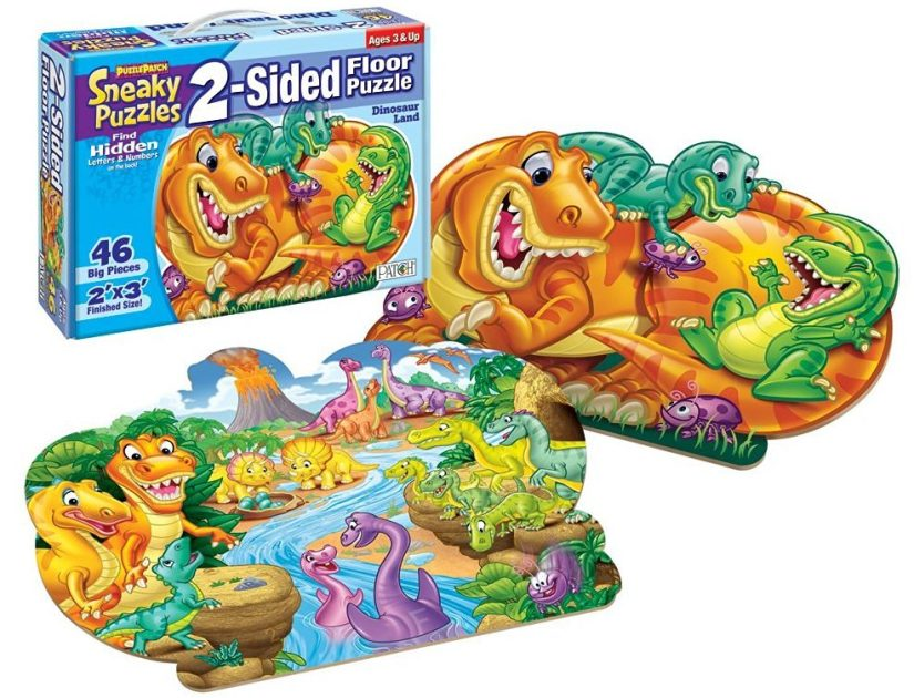 Sneaky Puzzles - Dinosaur Land - jigsaw puzzles