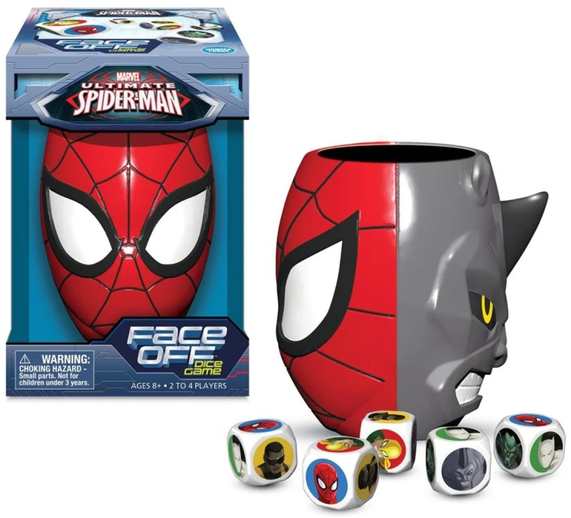 Ultimate Spiderman Face Off Dice Game - Spiderman vs. Rhino