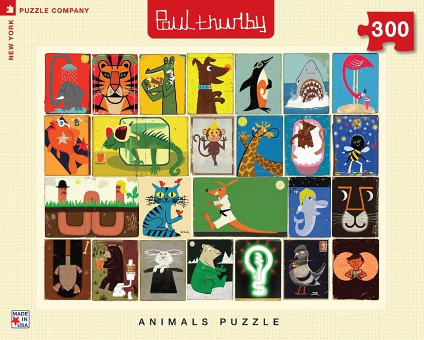 New York Puzzle Company - Paul Thurlby Animal Collage - jigsaw puzzles