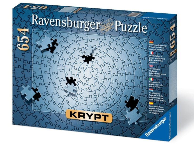 Krypt Silver 654 Piece Blank Puzzle Challenge - jigsaw puzzles