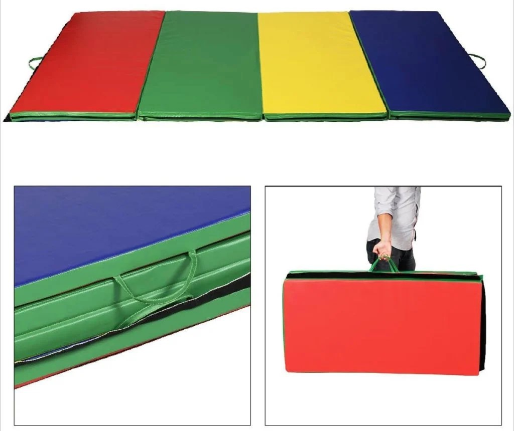 thick folding panel gymnastics mat from giantex