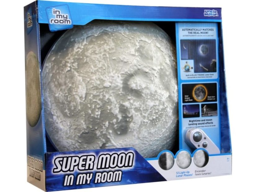 Super Moon in My Room Remote Control Wall Décor Night Light with Sound