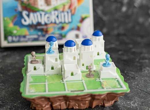Review Santorini Brettspiel