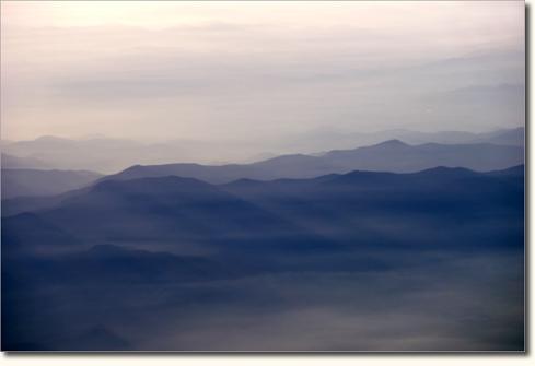 Blue Ridge Mountains from a flight between Atlanta and Roanoke