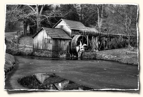 Mabry Mill on the Blue Ridge Parkway: December 2006