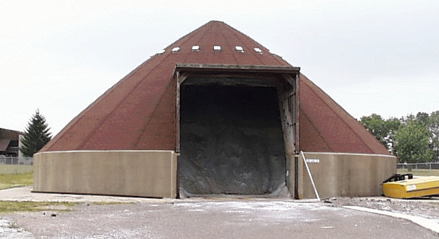 Angle of Repose : salt storage shed  - Aquiesqueretaro.Com