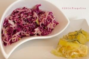 patate al forno con provola ed insalata mista