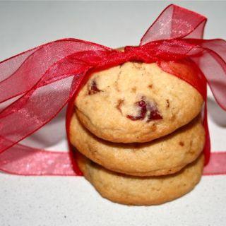 cookies con mirtilli e cioccolato bianco
