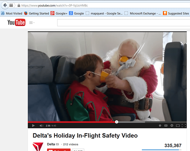 Delta's holiday safety video