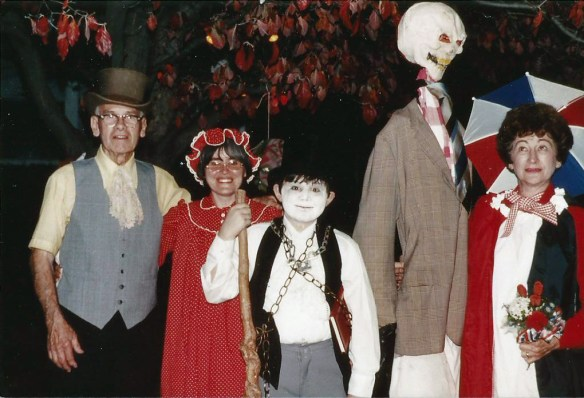 Al Groff, my mom, myself and Rose Marie Russo - Halloween 1982.