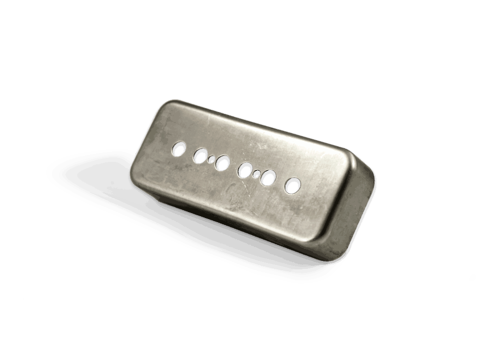 Gold plated Humbucker Cover Nickel Silver 49,2mm Spacing
