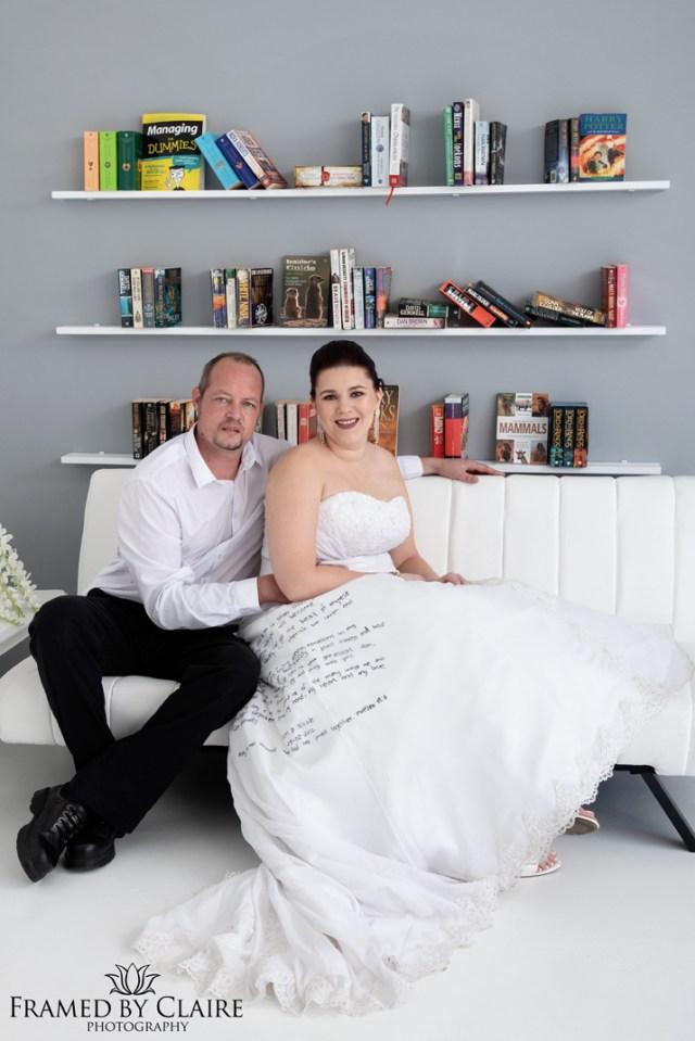 Trash the wedding dress