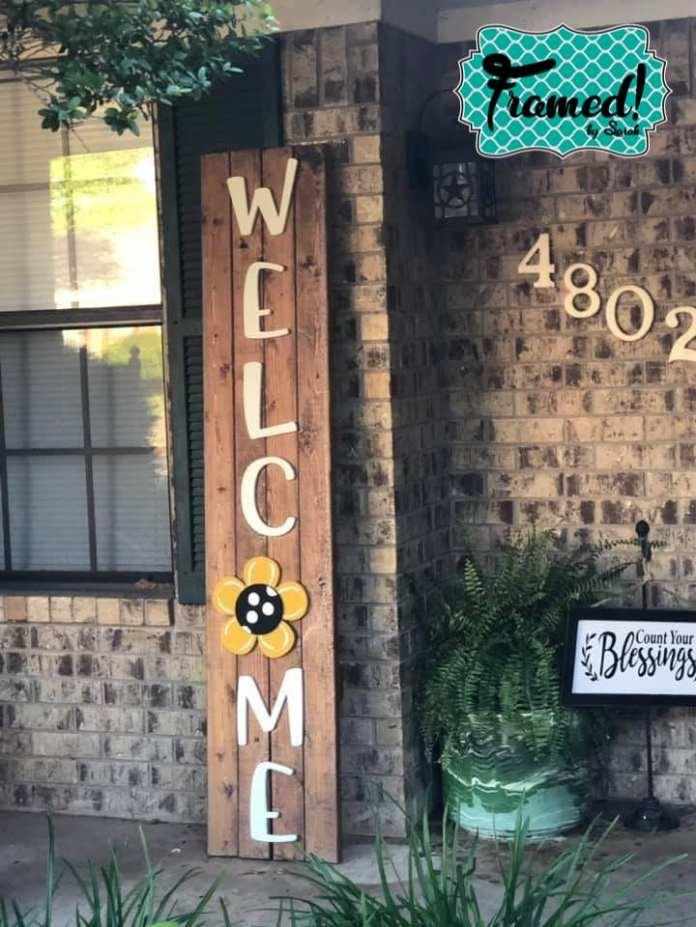 Easy Diy Welcome Sign Perfect For Seasonal Attachments Framed